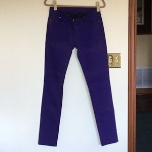 Purple skimmer Levi jeans.